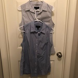 2 Banana Republic sleeveless oxfords